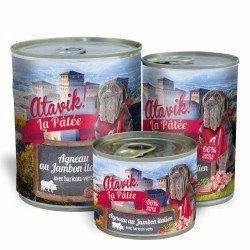 Pâtée pour chien - Agneau au jambon italien - disponibles en 3 conditionnements