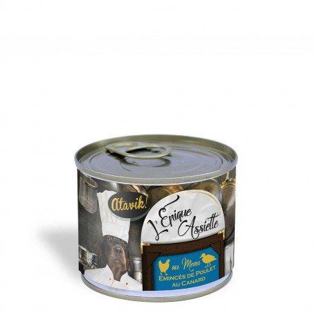 Alimentation premium pour chien - Emincés de poulet au canard