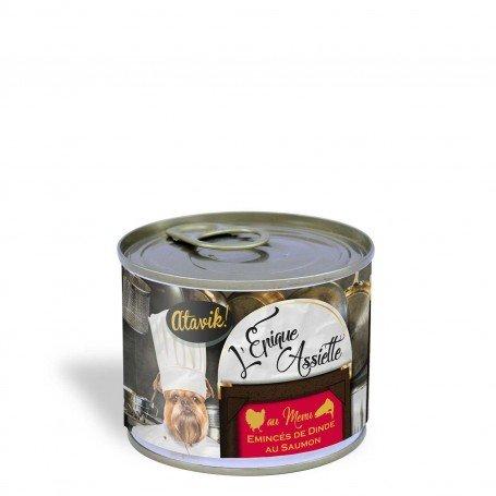 Alimentation premium pour chien - Emincés de dinde au saumon 200g