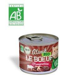 Alimentation bio pour chat - Pâtée Bio le Boeuf 200g