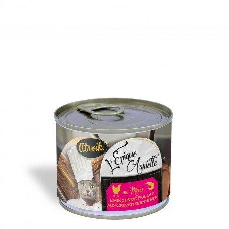 Alimentation naturelle pour chats - Epique Assiette poulet crevettes 200g