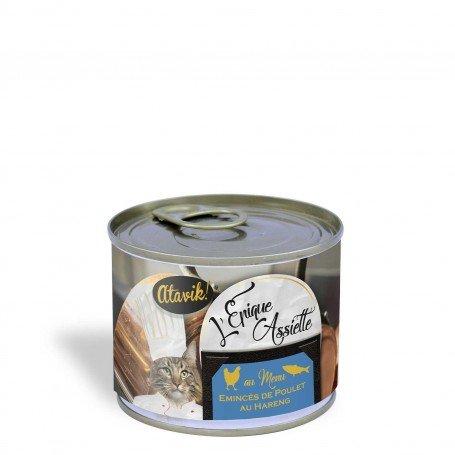 Alimentation premium pour chat - Poulet et hareng 200g