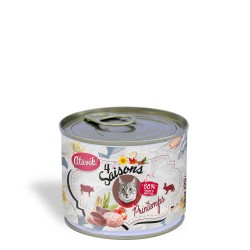 Pâtée pour chat  - 4 Saisons Printemps - Boeuf riche en Lapin
