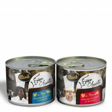 Lot découverte Epique Assiette - 2 pâtées pour chien