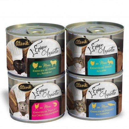 Lot decouverte pâtées premium pour chat - Epique Assiette