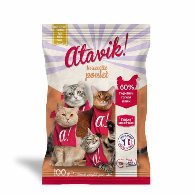 Echantillon croquettes pour chat au poulet - Made in France