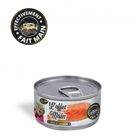Pâtée pour chat de qualité - L'Effet Main - Filet de saumon