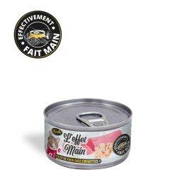 Pâtée pour chat - L'Effet Main - Filet de thon avec crevettes