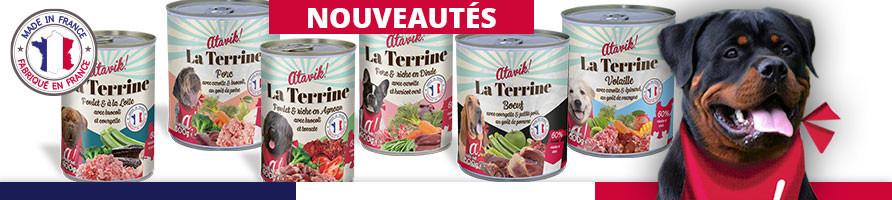 Pâtée pour chien sans céréales et bio - Atavik